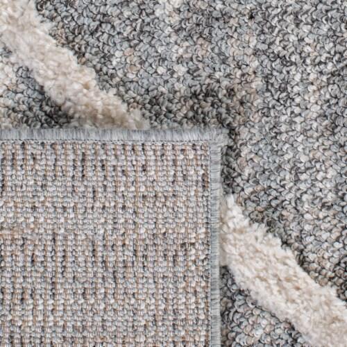 Safavieh Martha Stewart Lucia Shag Area Rug - Light Gray/White Perspective: top
