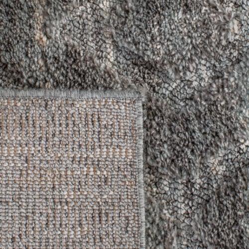 Safavieh Martha Stewart Lucia Shag Area Rug - Light Gray/Dark Gray Perspective: top