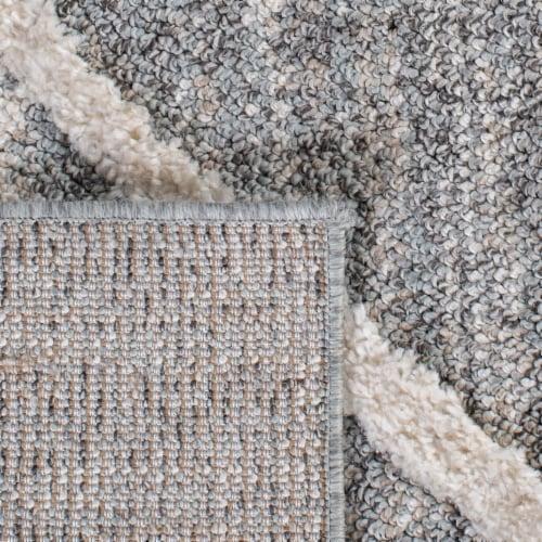 Safavieh Martha Stewart Lucia Shag Accent Rug - Light Gray/White Perspective: top