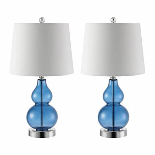Brisor Table Lamps Blue / Chrome Perspective: top