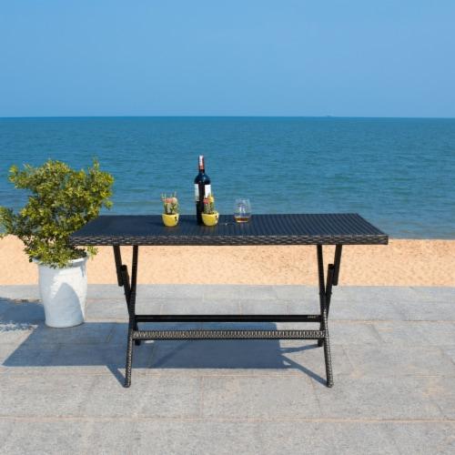 Akita Folding Table Black Perspective: top