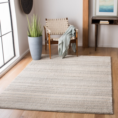 Safavieh Martha Stewart Collection Lucia Shag Area Rug - Light Gray/White Perspective: top