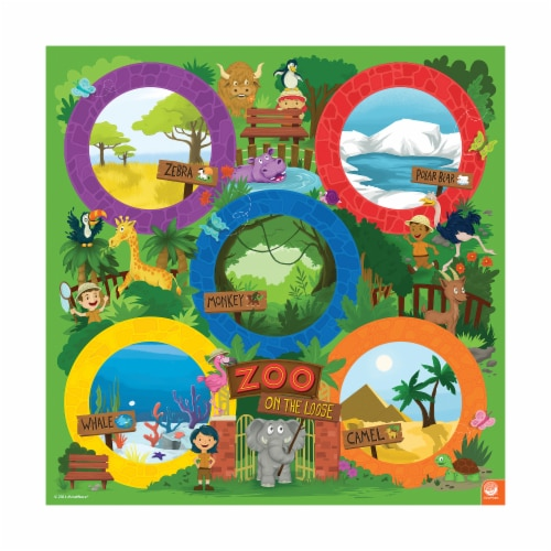 MindWare Zoo On the Loose Board Game Perspective: top