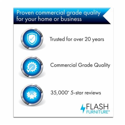 "Commercial Grade 30"" Round Light Gray Indoor-Outdoor Steel Folding Patio Table Perspective: top"