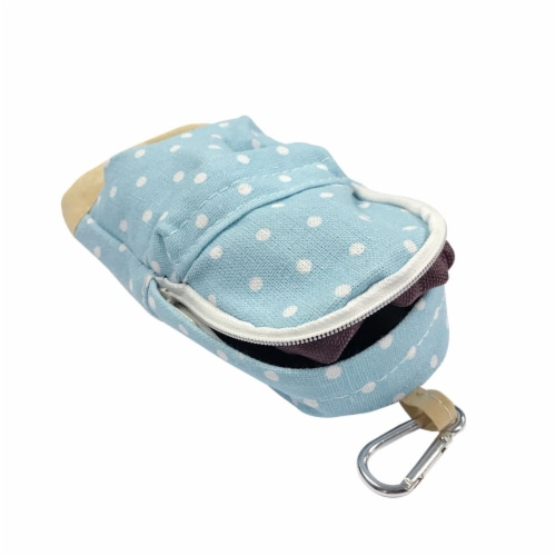 Wrapables Mini Backpack Pencil Case Pouch, Blue Perspective: top