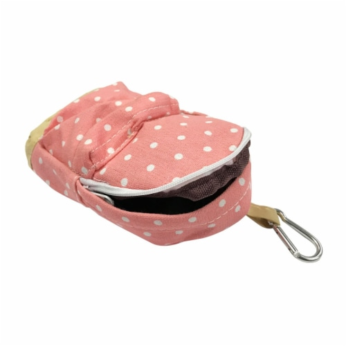 Wrapables Mini Backpack Pencil Case Pouch, Pink Perspective: top