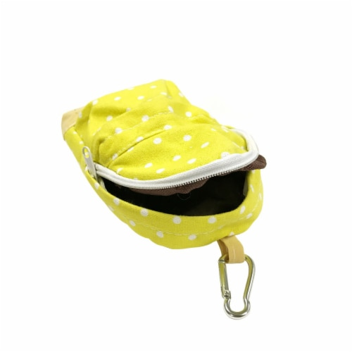 Wrapables Mini Backpack Pencil Case Pouch, Yellow Perspective: top