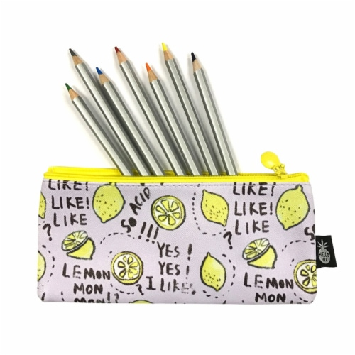 Wrapables Trendy Food Pencil Case and Stationery Pouches (Set of 3), Green Perspective: top