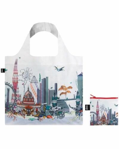 LOQI Artist Kristjana S Williams Interiors London Reusable Shopping Bag Perspective: top