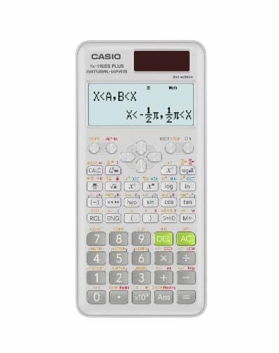 Casio Scientific FX-115 Calculator - White Perspective: top