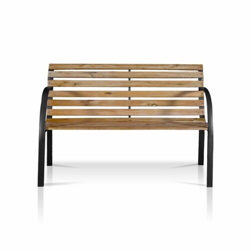 Jordy Traditional Patio Bench in Black - Furniture of America Perspective: top
