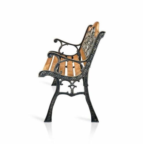 Jardy Patio Bench in Black - Furniture of America Perspective: top