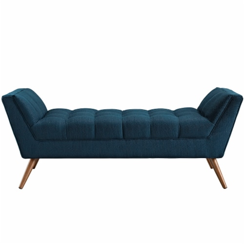 Response Medium Upholstered Fabric Bench - Azure Perspective: top