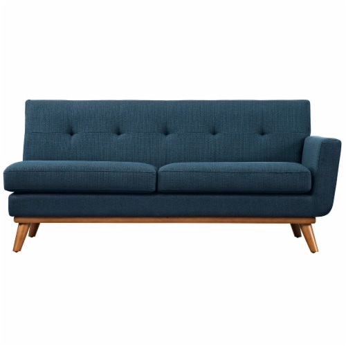 Engage Right-Arm Upholstered Loveseat, Azure Perspective: top
