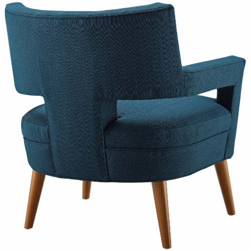 Sheer Upholstered Fabric Armchair - Azure Perspective: top