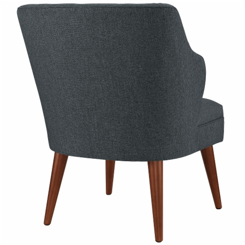 Swell Upholstered Fabric Armchair - Gray Perspective: top