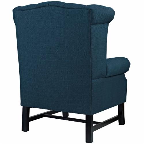Steer Upholstered Fabric Armchair - Azure Perspective: top