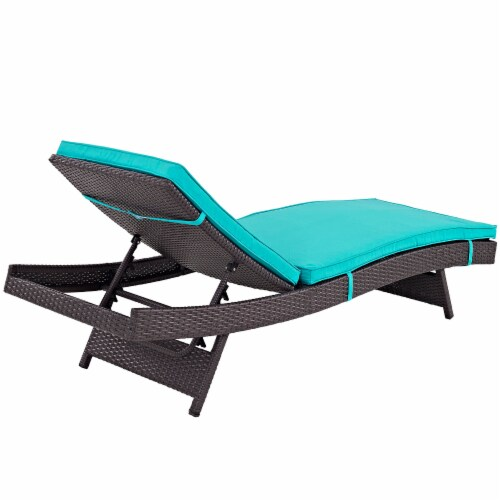 Turquoise Convene Outdoor Patio Chaise Perspective: top