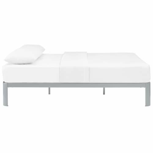 Corinne Queen Bed Frame - Gray Perspective: top