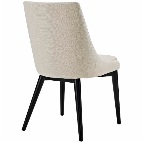 Viscount Fabric Dining Chair - Beige Perspective: top
