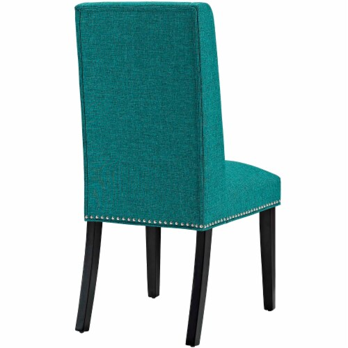 Baron Fabric Dining Chair - Teal Perspective: top