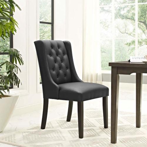 Baronet Vinyl Dining Chair - Black Perspective: top