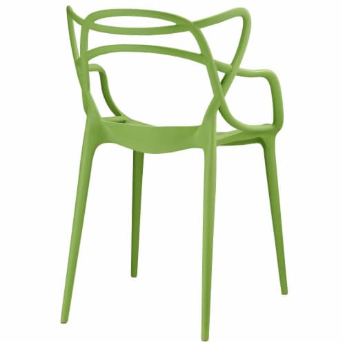 Entangled Dining Set Set of 4 - Green Perspective: top