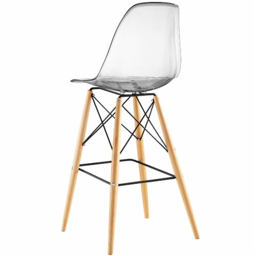 Pyramid Dining Side Bar Stool Set of 2 - Clear Perspective: top