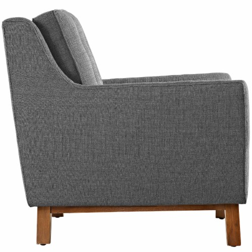 Beguile Living Room Set Upholstered Fabric Set of 2 - Gray Perspective: top