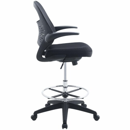 Advance Drafting Chair, Black Perspective: top