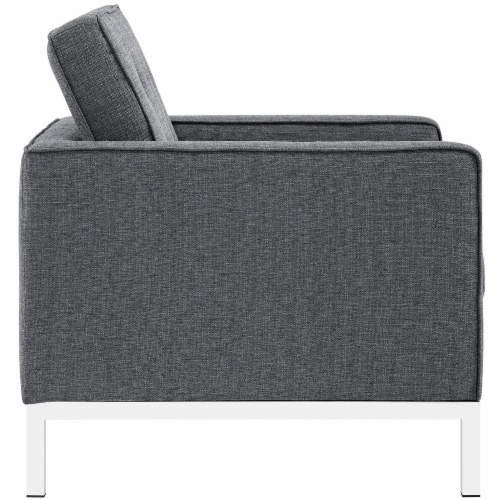 Loft Living Room Set Upholstered Fabric Set of 3 - Gray Perspective: top