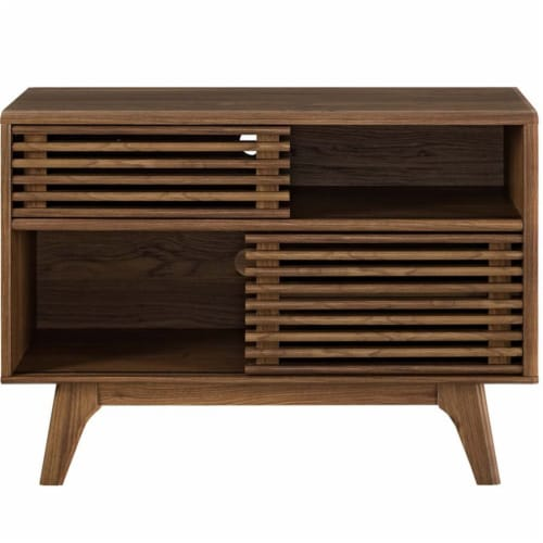 Render Display Stand, Walnut Perspective: top