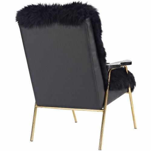 Sprint Sheepskin Armchair - Black Black Perspective: top