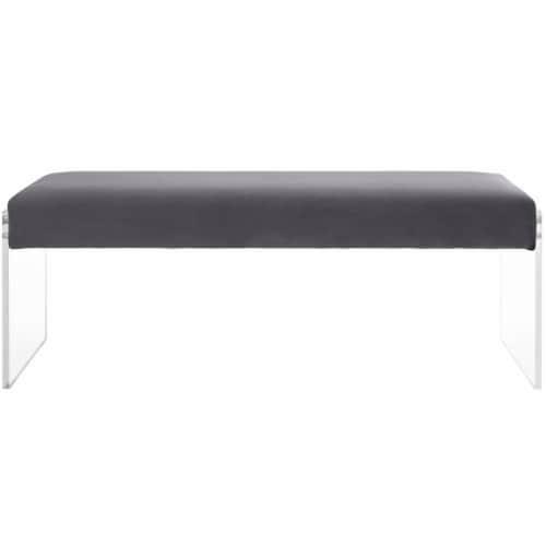 Roam Velvet Bench Perspective: top