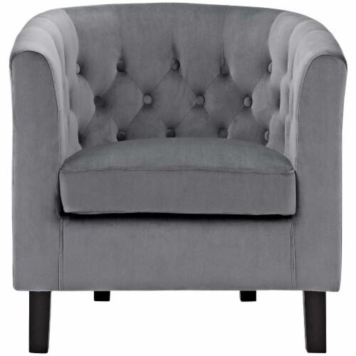 Prospect Velvet Armchair - Gray Perspective: top