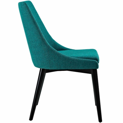 Viscount Dining Side Chair Fabric Set of 2 - Teal Perspective: top