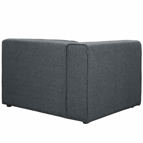 Mingle Fabric Left-Facing Sofa - Gray Perspective: top