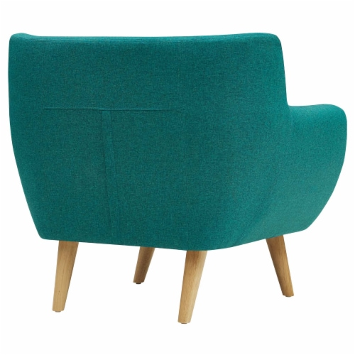 Remark Upholstered Fabric Armchair - Teal Perspective: top
