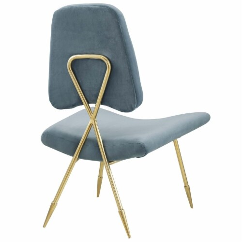 Ponder Upholstered Velvet Lounge Chair, EEI-2809-SEA Perspective: top