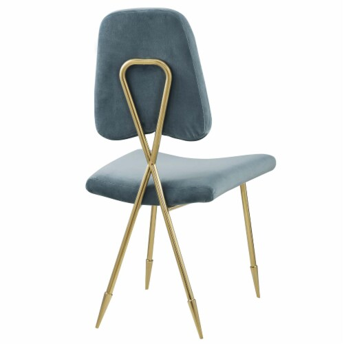 Ponder Upholstered Velvet Accent Chair Perspective: top