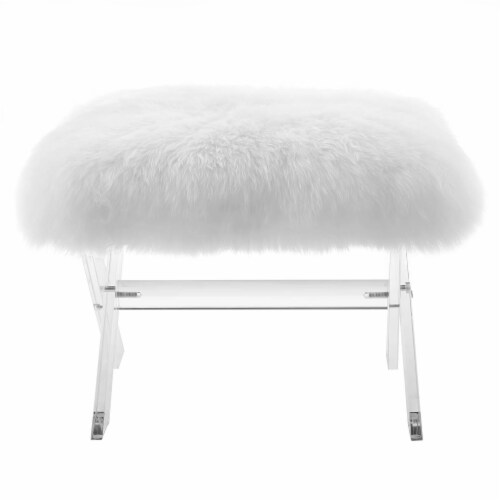 Swift Sheepskin Bench - Clear White Perspective: top