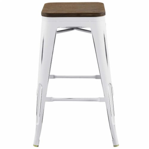 Modway Promenade 26  Counter Stool in White Perspective: top