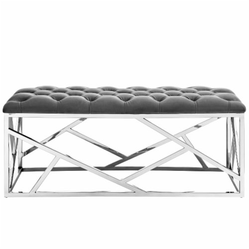 Intersperse Bench - Silver Gray Perspective: top