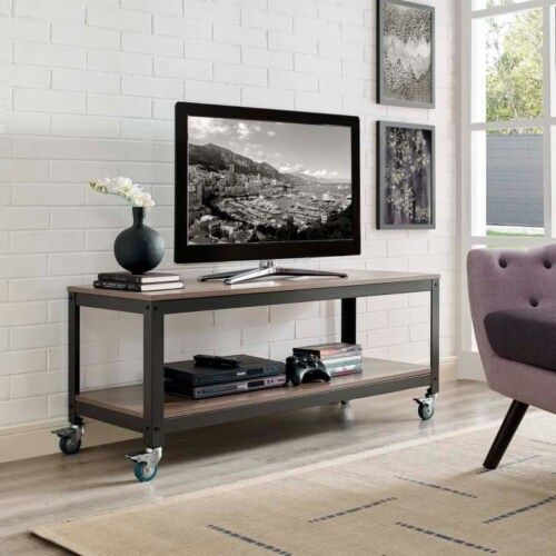 Vivify Tiered Serving or TV Stand Perspective: top