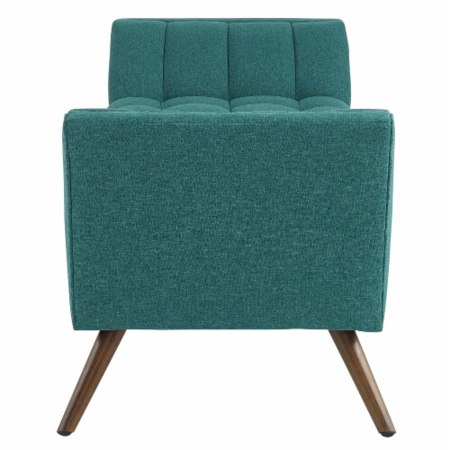 Response Medium Upholstered Fabric Bench - Teal Perspective: top