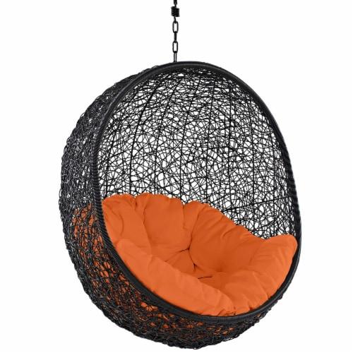 Encase Swing Outdoor Patio Lounge Chair - Orange Perspective: top