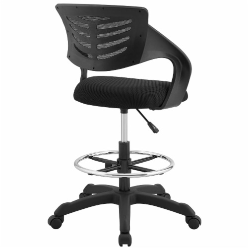 Thrive Mesh Drafting Chair - Black Perspective: top