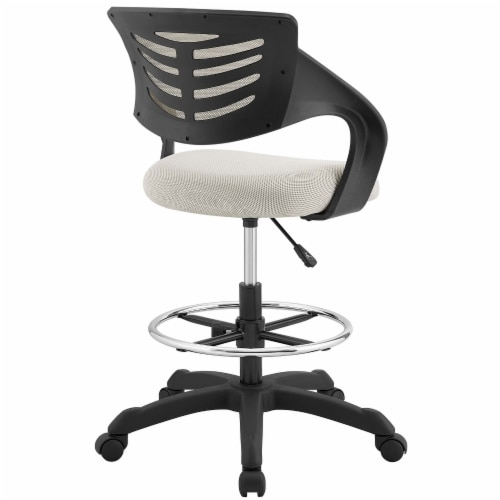 Thrive Mesh Drafting Chair - Gray Perspective: top