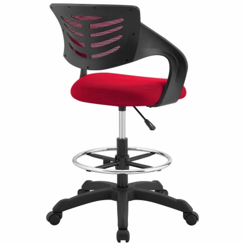 Thrive Mesh Drafting Chair - Red Perspective: top