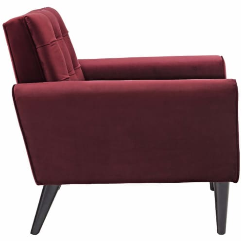 Delve Living Room Set Velvet Set of 3 - Maroon Perspective: top